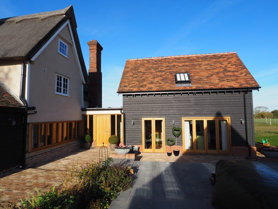 Extension to Grade 2 Listed Thatch Cottage - completed
