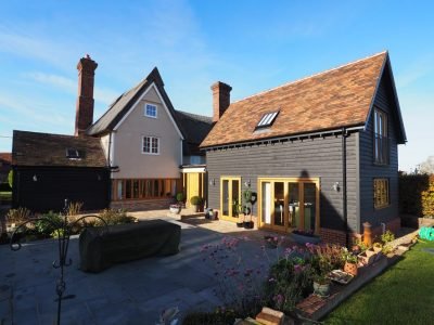 Extension to Grade 2 Listed Thatch Cottage, Hartest, Suffolk.