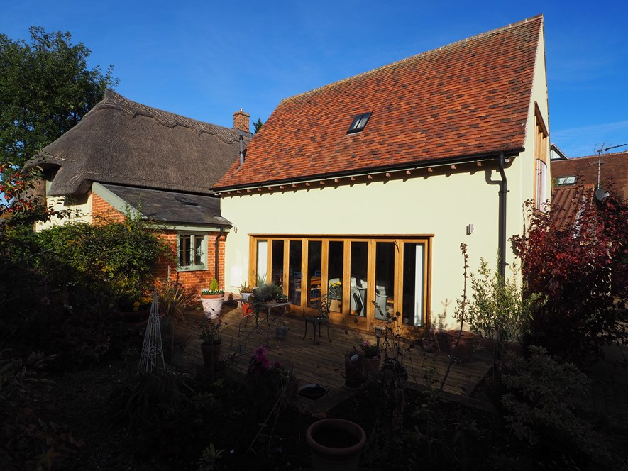 Renovation & extension of a Grade 2 Listed thatch cottage, Long Melford, Suffolk.