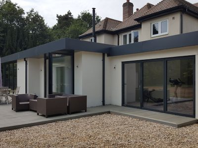 Single storey rear contemporary extension to existing dwelling. Great Horkesley, Essex.