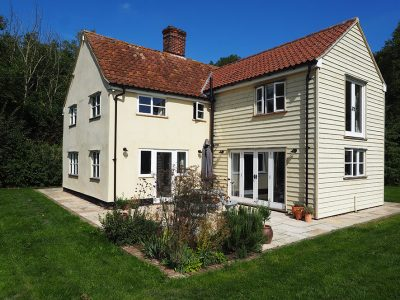 Two storey rear extension to existing period dwelling, Nr Clare, Suffolk.