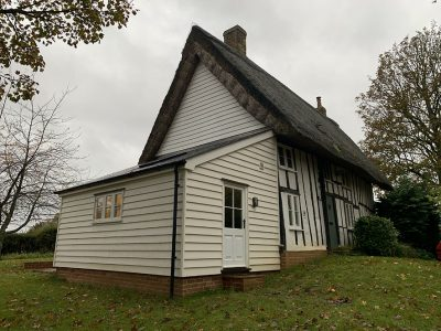 Replacement extension to a Grade 2 Listed cottage, Assington, Suffolk.