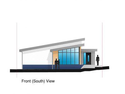 Schematic design of contemporary new dwelling. Suffolk.